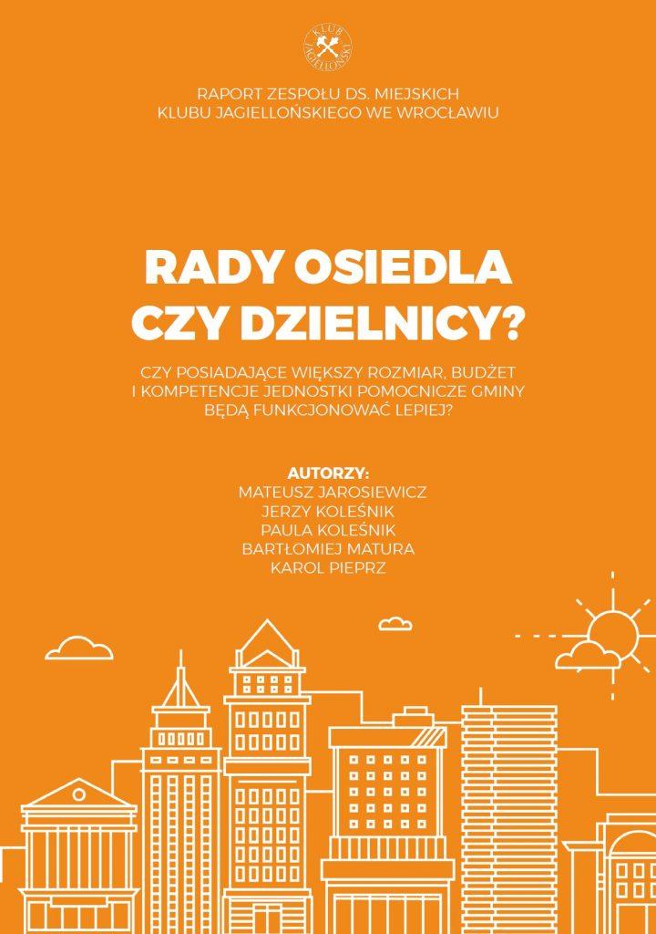Rady osiedla czy dzielnicy? Raport o Wrocławiu