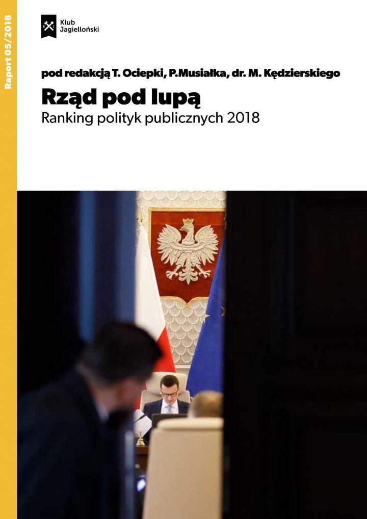 Rząd pod lupą. Ranking polityk publicznych 2018